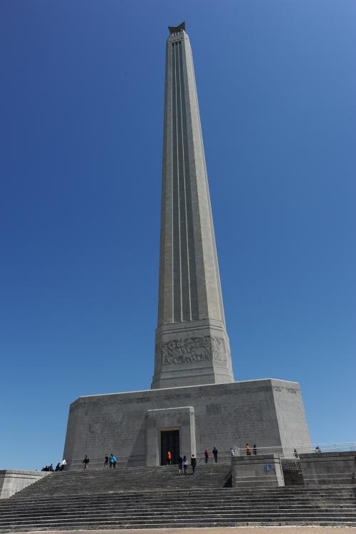 메모:멕시코와의 최종 전쟁 격전지 텍사스 공화국 승리의 기념탑 샌자신토..